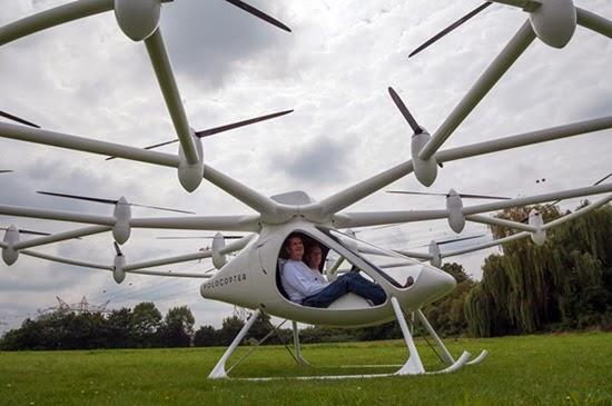 Helicóptero Volocopter elétrico 06