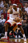 lebron james nba 130123 mia vs tor 01 Boston Outlasts Miami in 2nd OT. LeBron Debuts Suede X PE!