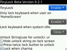 Mengunci Keyboard BlackBerry secara Otomatis