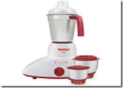 Maharaja Whiteline Nano Happiness 500-Watt Mixer Grinder (Red and White) at Rs.1590