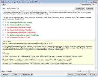 Visual Exam Manager Software