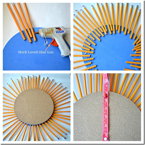 pencil wreath steps