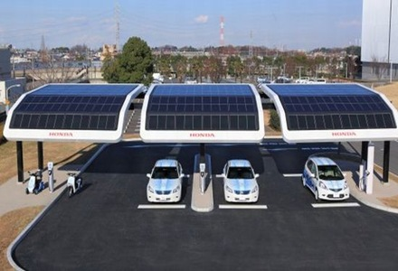 estacion-solar-de-carga-electrica-honda