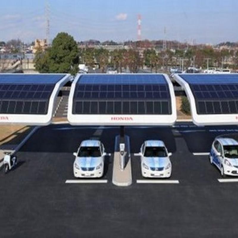 Estaciones de carga de energía solar para vehículos eléctricos de Honda