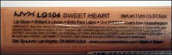 NYX Sweet Heart Lip Gloss