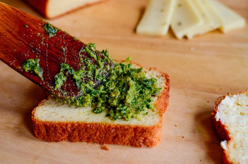 kale pesto gluten free grilled cheese-14310