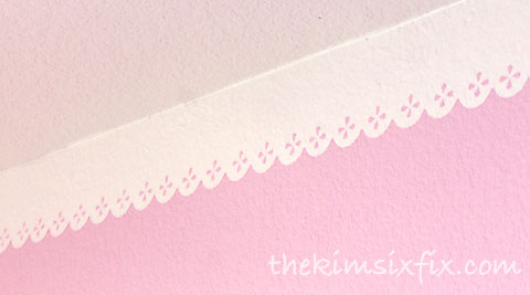 Lace border painted