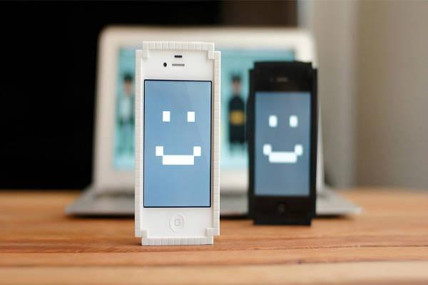 Capinha-Iphone-Pixels-8-Bit-Branco-Preto