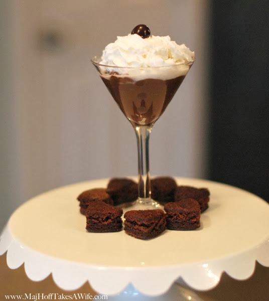 Chocolate martini dessert