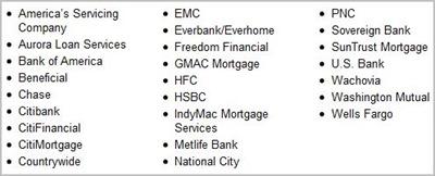 Servicers-Foreclosure (OCC)
