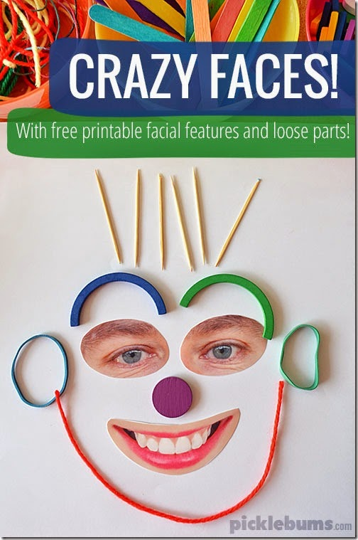 Crazy Faces Kid Activities #toddler #preschool #kidsactivities