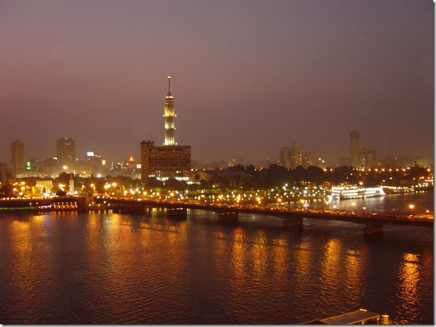 Cairo, Egypt, City at night