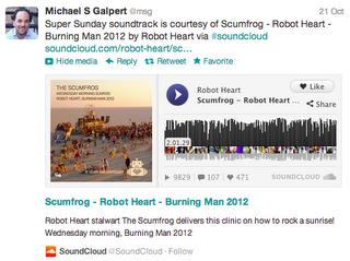 Aplicaciones de música como Soundcloud