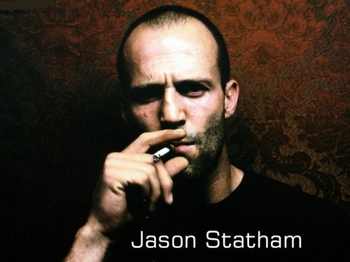 jason statam, action star, transporter, crank, bank job, locl stock, smoking cigarette