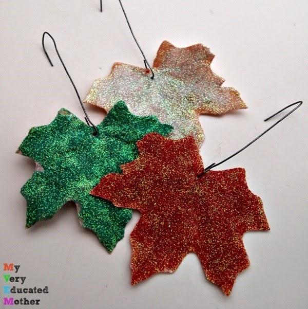 vanityglitteredleaves #crafts #glitter #ornaments