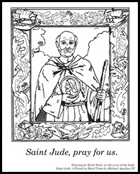 Saint Jude - Grayscale to color