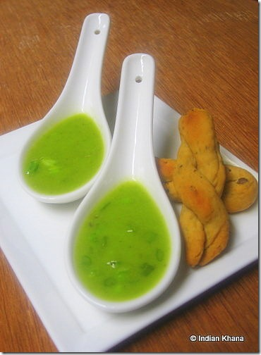 Spring Onion and Peas Soup Recipe4