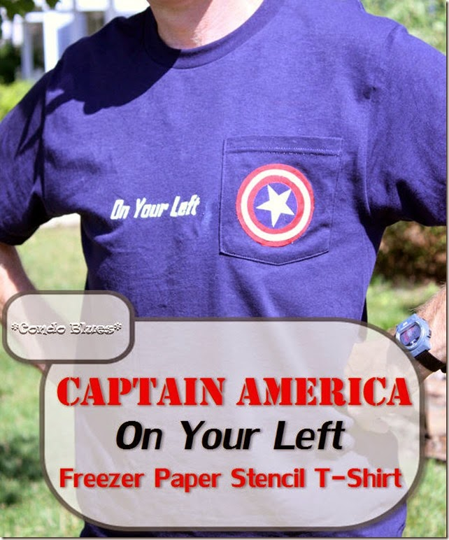 Captain America On Your Left Freezer Stencil Shirt