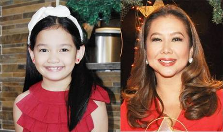 Xyriel Manabat and Korina Sanchez