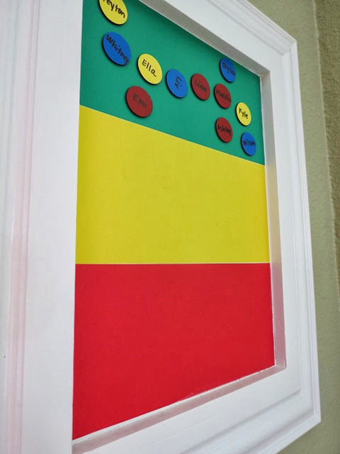 Classroom Magnetic Behavior Graph www.stylewithcents.blogspot.com