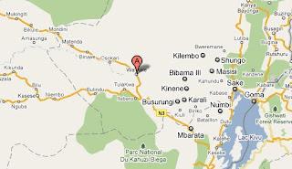 Walikale (marqué en rouge sur la carte) au Nord Kivu.