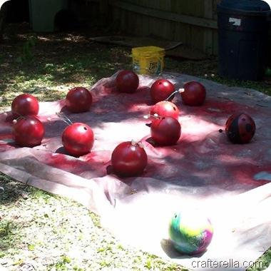 bowling ball ladybug progress