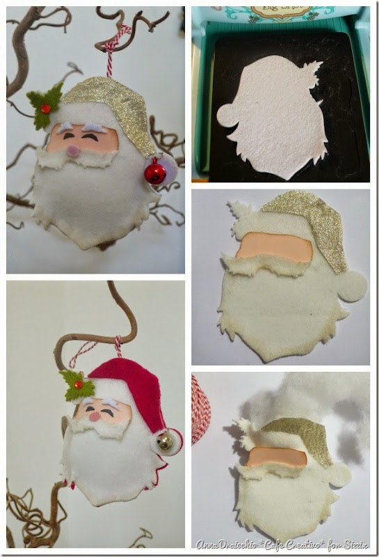 cafecreativo - sizzix big shot - christmas ornament - santa (4)