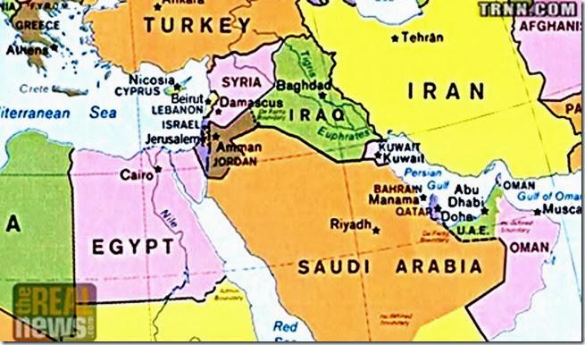 Middle East Hegemony Map