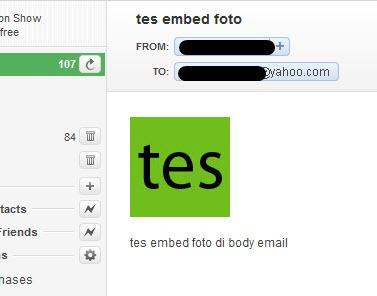 Membaca email bergambar di Yahoo! Mail