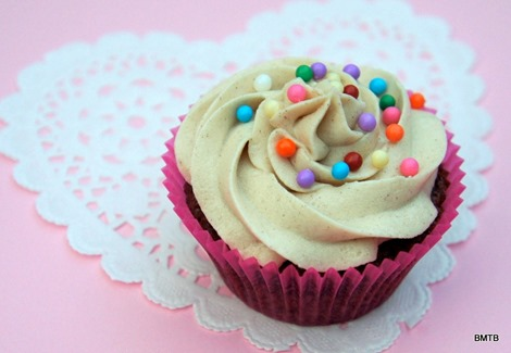 Choc cupcake with cinnamon buttercream