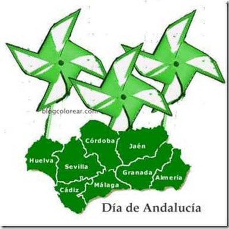Molinillos de viento Día de Andalucía para niños