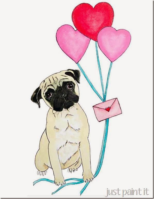 Valentine's-Pug