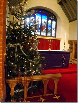 St Paul's Camberley  at Christmas