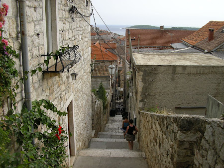 Sights of Croatia: going up to the fortress