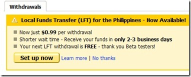 oDesk local funds transfer setup