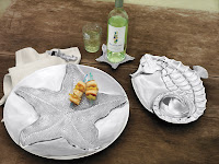 Starfish Centerpiece $198.00 Seahorse Sectional Server $124.00