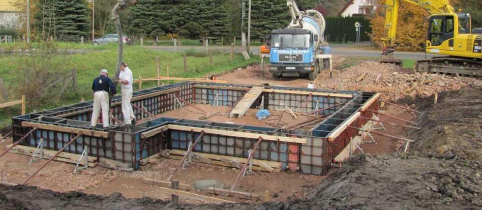 Rohbau Einfamilienhaus Fundamente