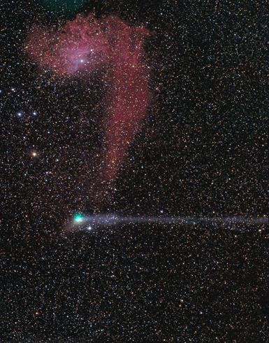 cometa Jacques e nebulosa IC 405