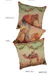 Poduszki z motywami ze słynnych gobelinów historycznych.