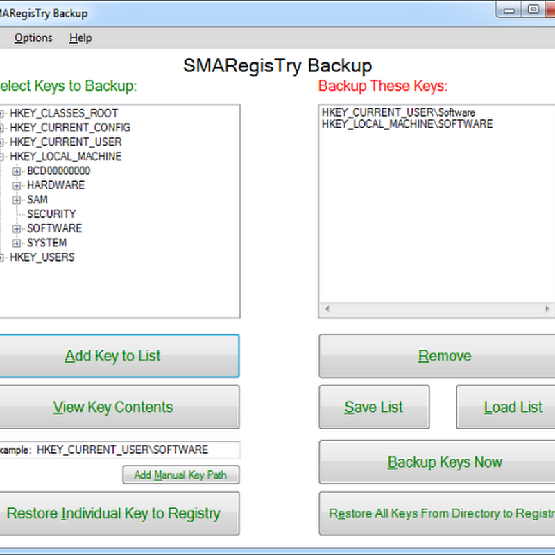 How to Backup Multiple Selected Registry Keys