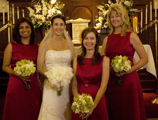 Alanna and her maids - Sumita (sister-in-law), Nicole (sister) and Julie