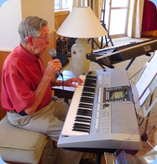 Michael Bramley played and sang for us on Peter Brophy's Yamaha PSR-910