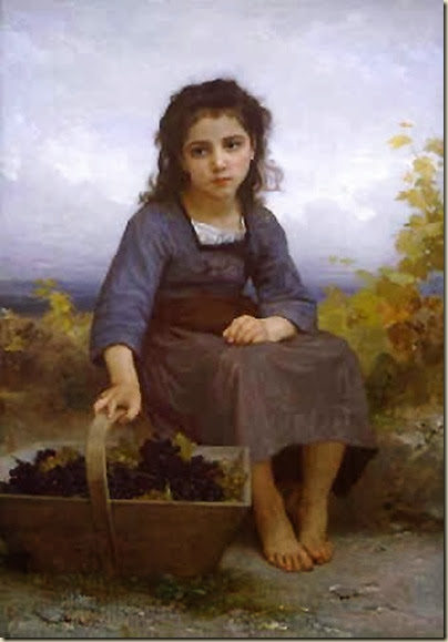 William Adolphe Bouguereau,  jeune vendangeuse