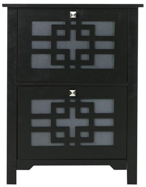 japanese inspired black file cabinet