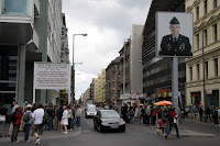 Checkpoint Charlie - looking into (former) West Berlin