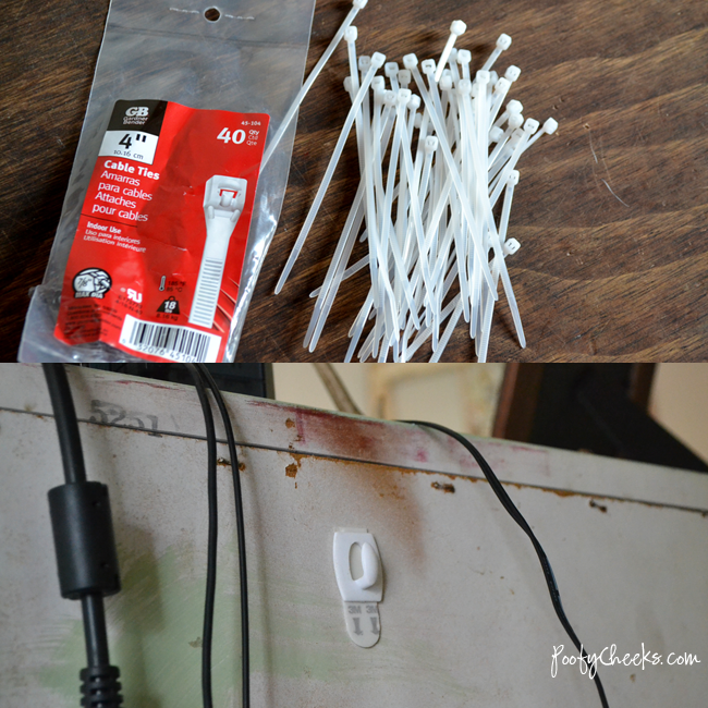 HOW TO: Easily keep electronic cords out of sight with two very inexpensive supplies
