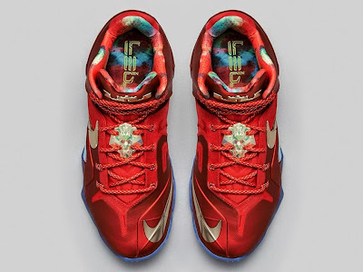 nike lebron 11 ps elite championship pack 2 05 Release Reminder: Nike LeBron 11 Elite SE Red & Metallic Gold