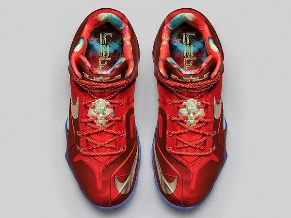 Nike LeBron 11 Elite SE University RedMetallic Gold Drops on 81