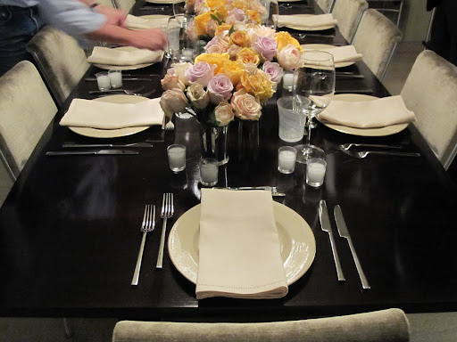 The table is set and ready for dinner!