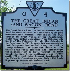 The Great Indian (and Wagon) Road  Marker Q-4